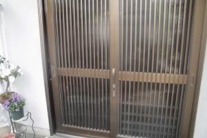 【玄関ドアリフォーム】奈良県宇陀市A様邸 玄関ドア戸車交換工事