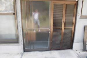 【玄関ドア工事】奈良県宇陀市Y様邸 玄関ドアのガラス交換工事