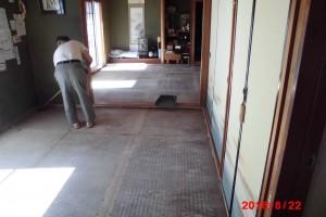 【和室リフォーム・和室工事】奈良県宇陀市K様邸 和室畳用の下地張り替え工事