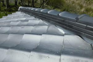 【屋根修理,瓦修理,雨漏り修理】奈良県橿原市N様邸 屋根の漆喰(しっくい)塗り替え工事
